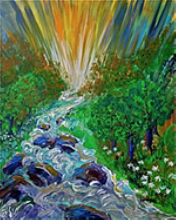 Streams of Living Water (artwork 8X10) by Janice VanCronkhite